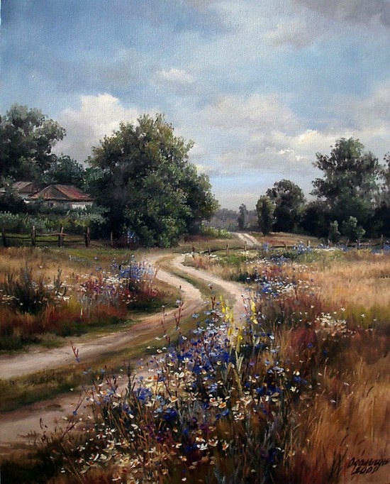 пейзажи художник Ольга Одальчук - 14