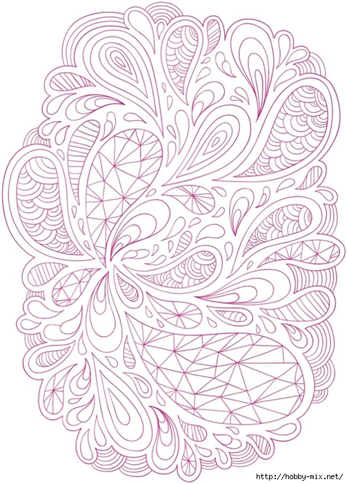 Раскраски для взрослых. Успокаиваем нервы (2) — HandMade
