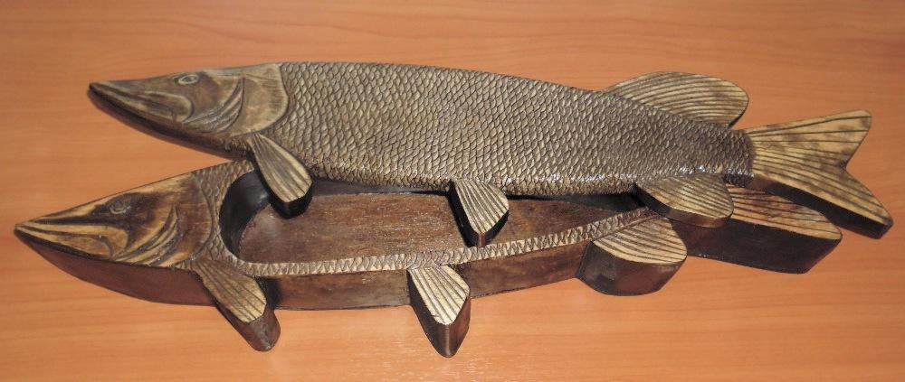 Шкатулка - щука в подарок рыбаку