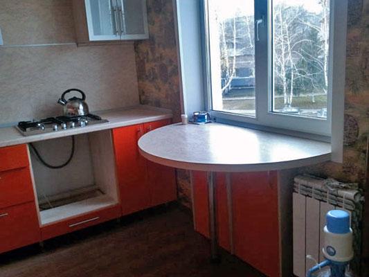 Кухня где подоконник столешница