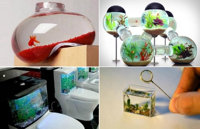12 творческих идей устройства аквариумов дома и на работе