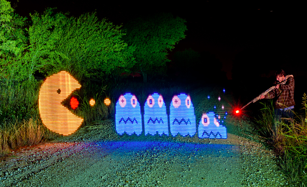 Michael Ross светографика, фотография