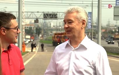 Собянин дал старт движению по разворотному тоннелю на Калужском шоссе