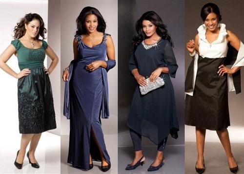 Фото стильных платьев для полных
