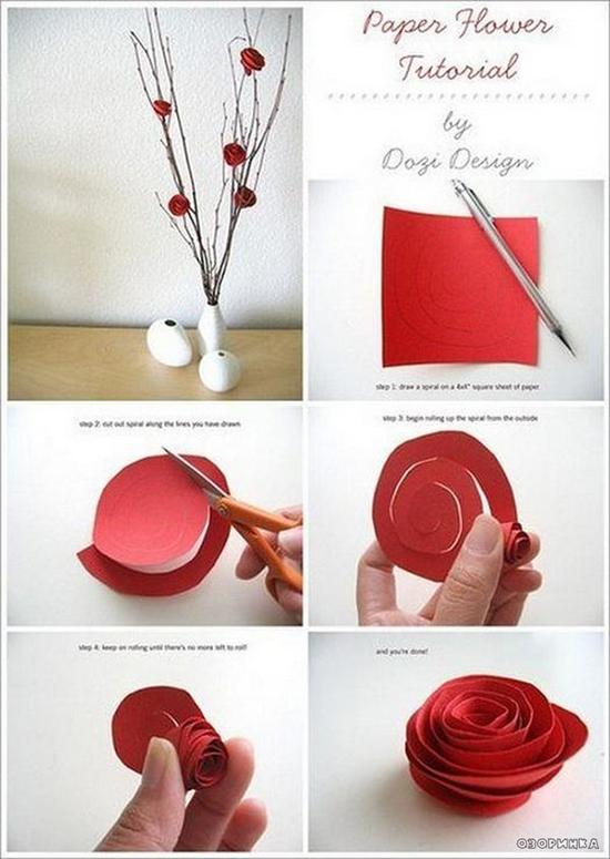 Сделать цветок из бумаги своими руками пошаговое фото легкие