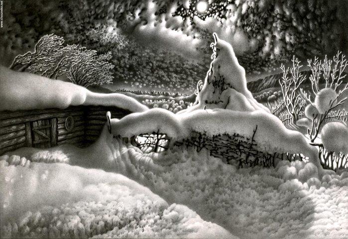 рисунки карандашом Гурам Доленджашвили - 09