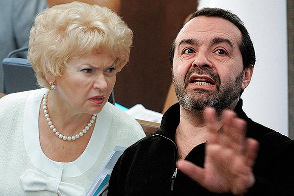 Людмила Нарусова и Виктор Шендерович. Фото: Дни.Ру