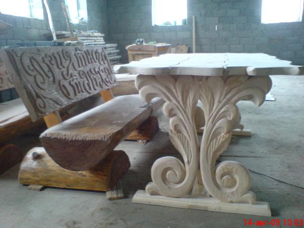 Резная скамейка из дерева своими руками 67