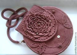 Миниатюрные сумочки в виде цветов. Идеи, описания, схемы