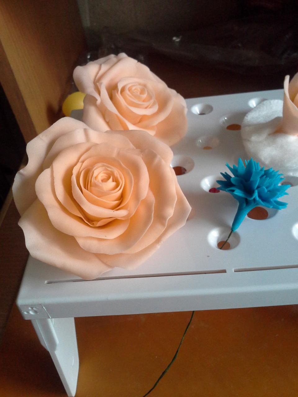 Мастер класс создания цветов 13