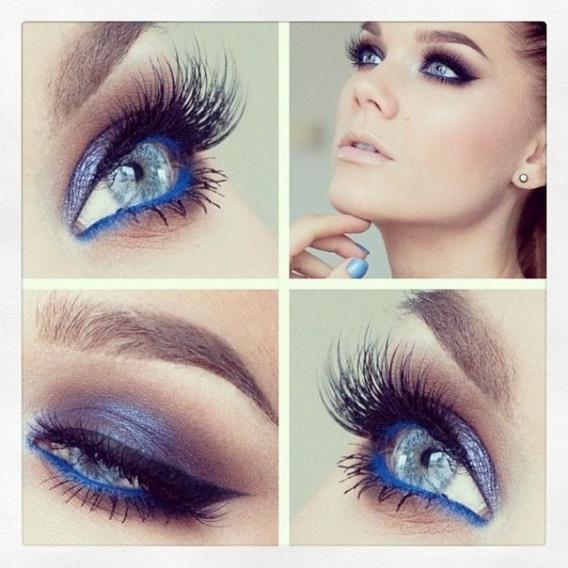 Выпускной макияж голубых глаз