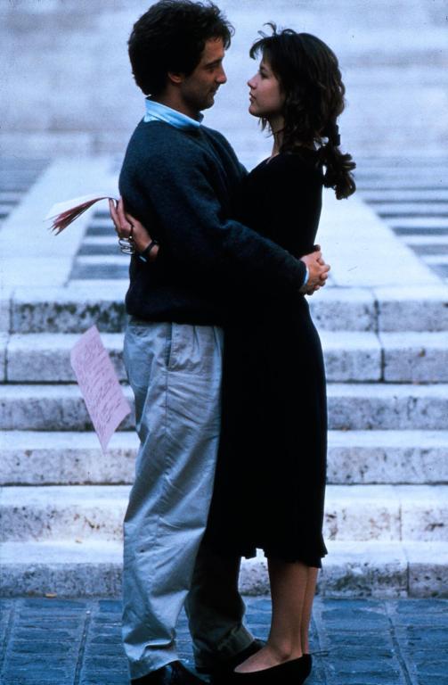"Софи Марсо и Венсан Линдо в фильме ""Студентка"". 1988 год."
