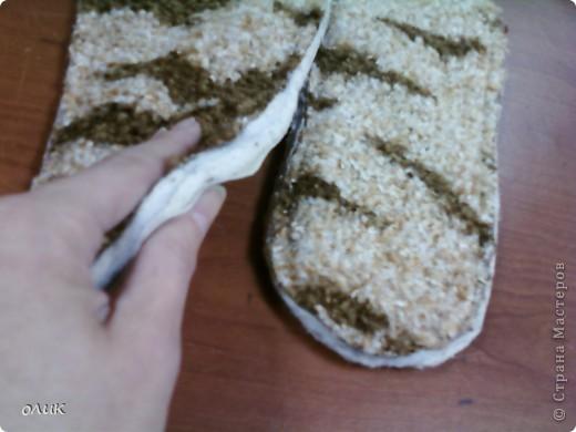 Мастер-класс Шитьё Домашние тапочки для себя и для гостей Кожа Мех Ткань фото 9