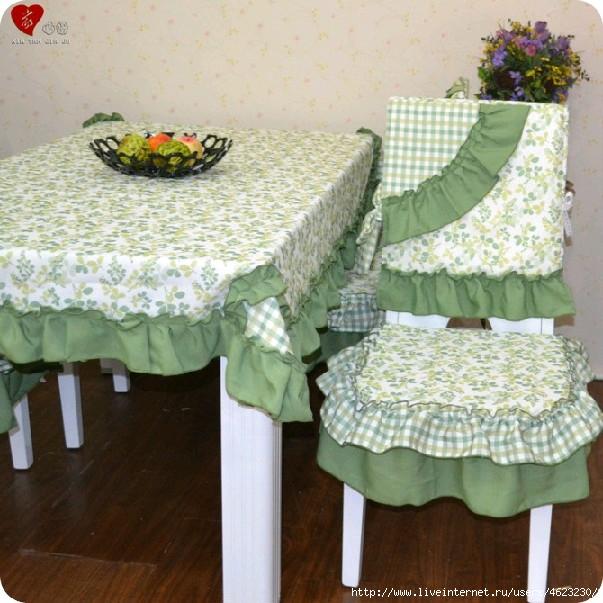 Накидки на стулья своими руками на кухню
