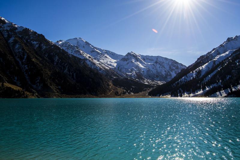 Большое алматинское озеро алматы, ссср