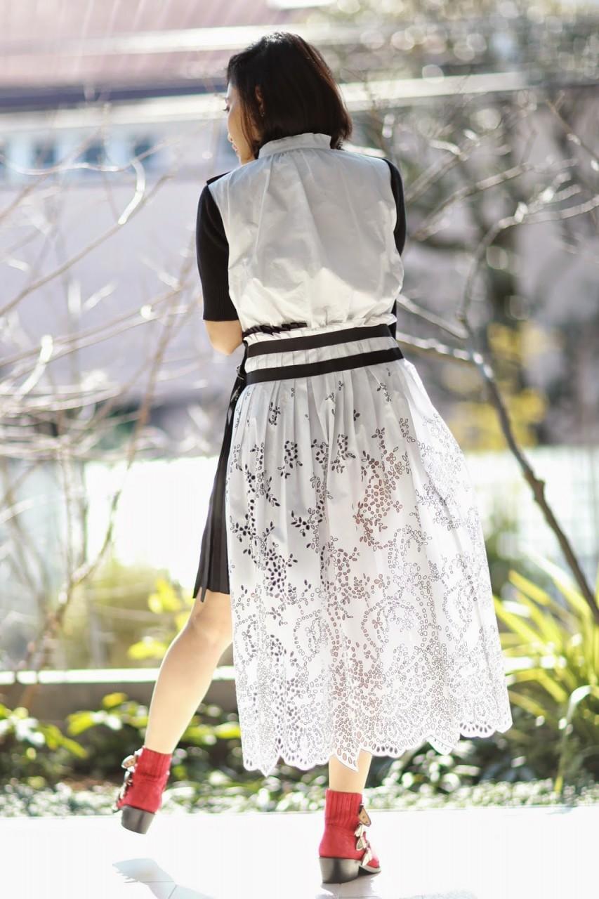 SACAI HYBRID DRESS