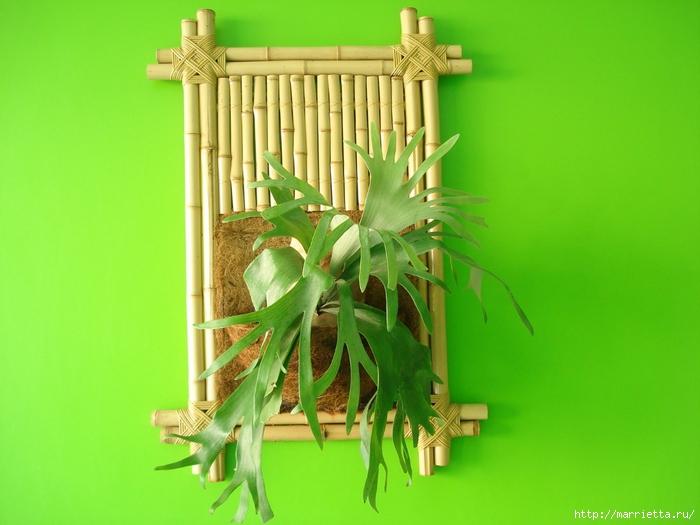 Рамки для фото из бамбука своими руками