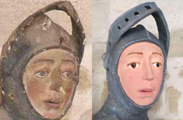 Скульптура Георгия Победоносца «похорошела» после реставрации