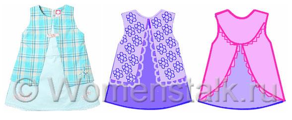 Рисунки платьев детские