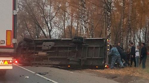 Четыре человека погибли при столкновении маршрутки и автобуса в Подмосковье