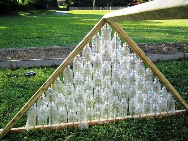Теплицы своими руками из пластиковых бутылок фото