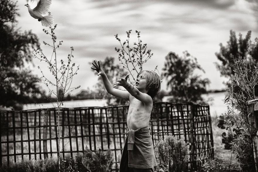 Летние каникулы в польской деревне - чёрно-белые фото-29
