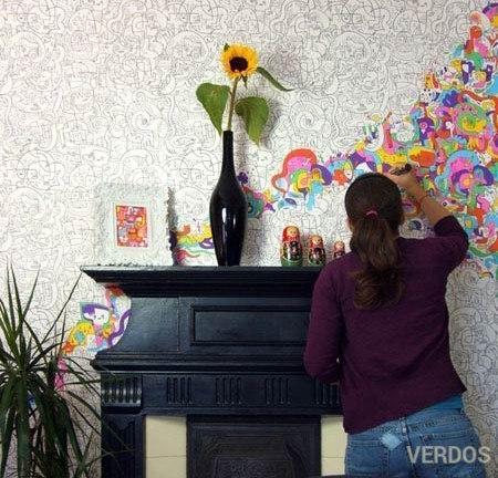 Обои-раскраски для стен.