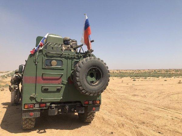 Росгвардия в Даръа на юго-западе Сирии. Фото: Евгений Поддубный