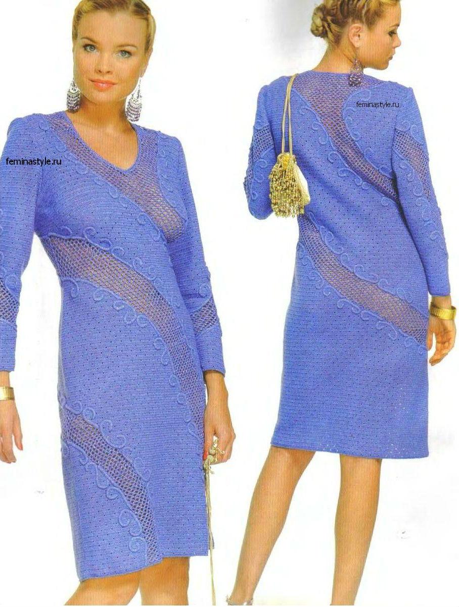 Вязание крючком вечернего платья