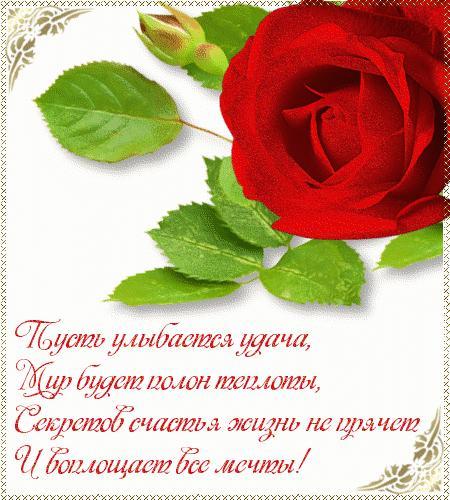 Открытки роз с пожеланиями 8