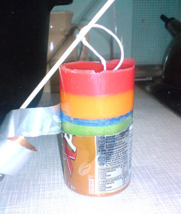 Отрезаем форму от свечи