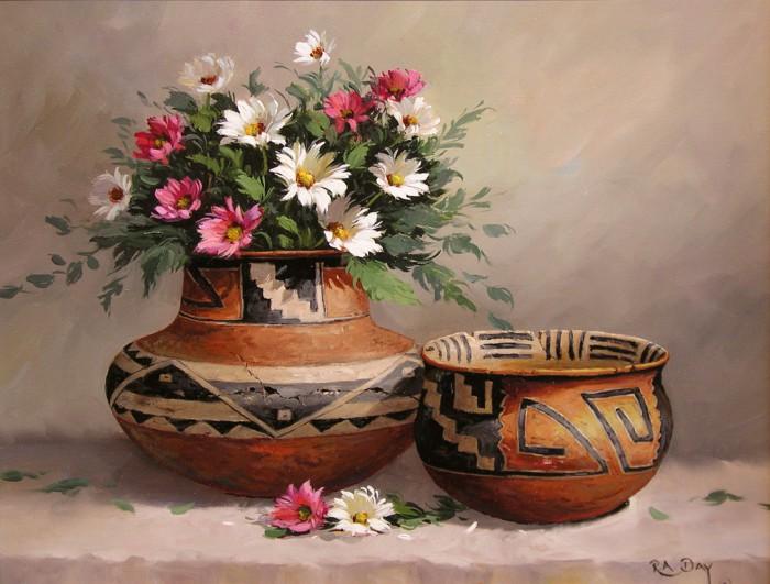 натюрморты цветы-11