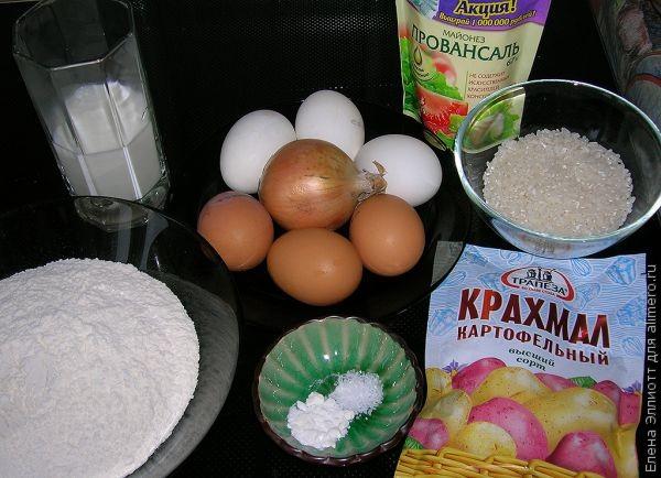 запеканочка с рисом и яйцом, быстро и вкусно!