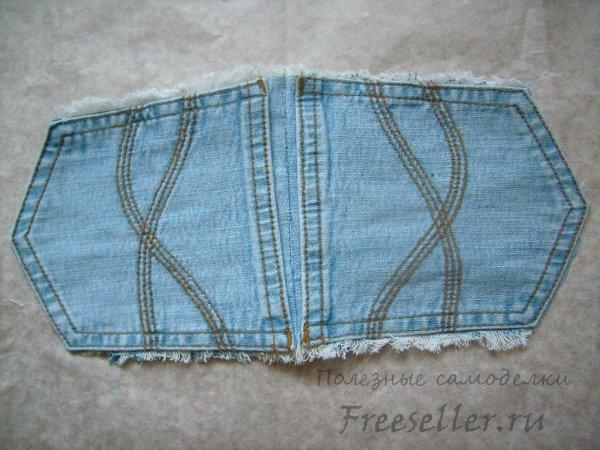 Прихватка для горячего из карманов джинсов