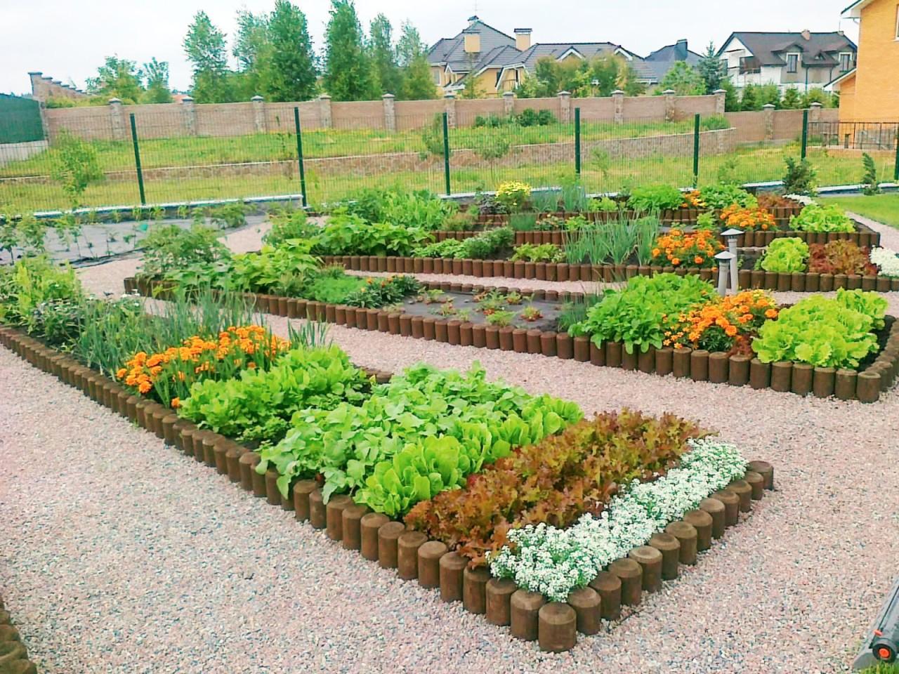 Дизайн огорода и сада своими руками