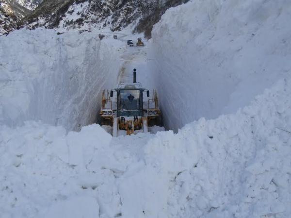 Транскавказскую магистраль расчистили отснега