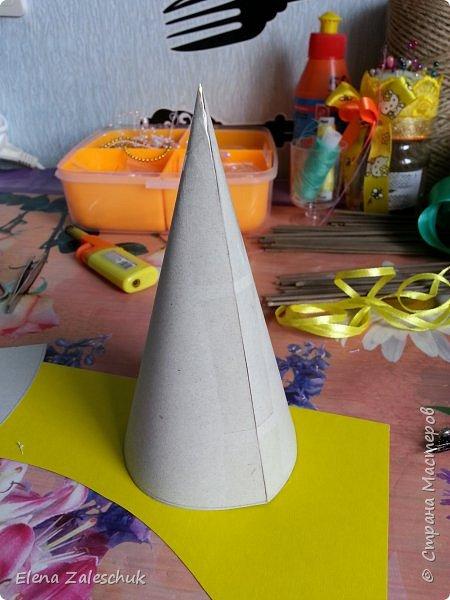Макет модель Мастер-класс Новый год Цумами Канзаши МК ёлочек Бусины Гипс Картон Ленты Шпагат фото 4