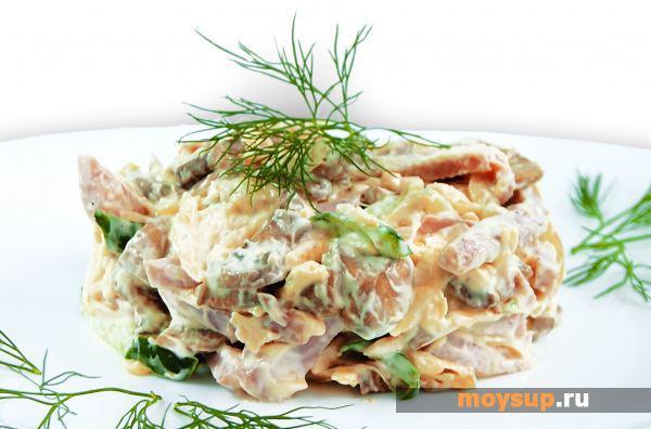 Салат с шампиньонами и ветчиной — просто и со вкусом