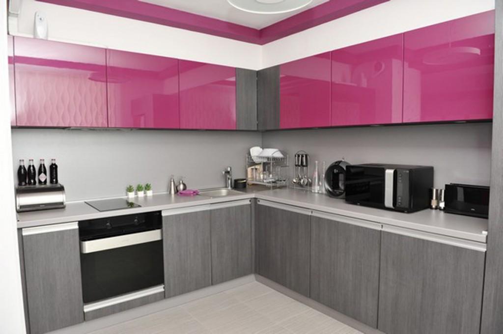 minimalist kitchen in small apartment Petya Gancheva 1024x680 Дизайн фасадов кухонных шкафов 60 фото
