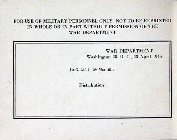 Инструкция 1945 года солдата США для общения с красноармейцем.