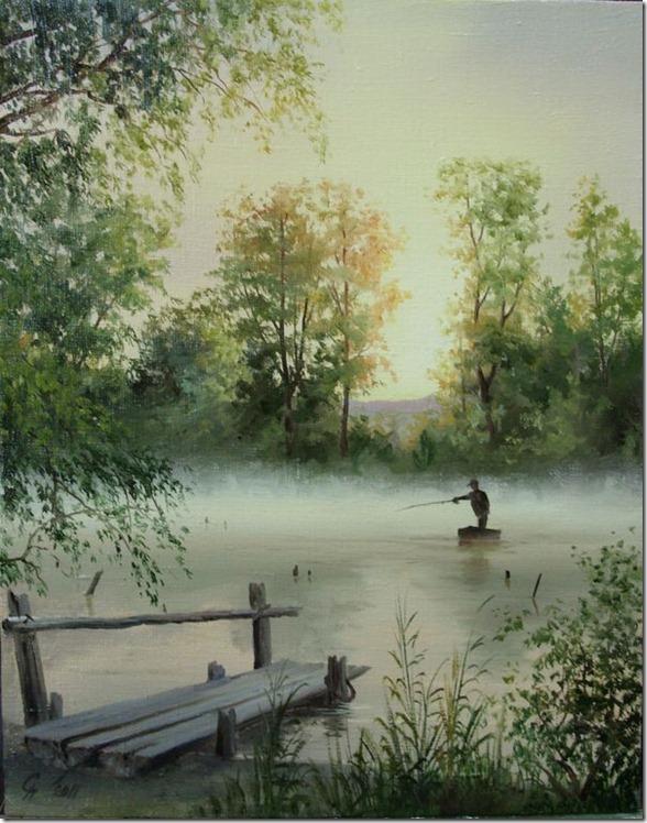Живопись пейзажа поэтапно
