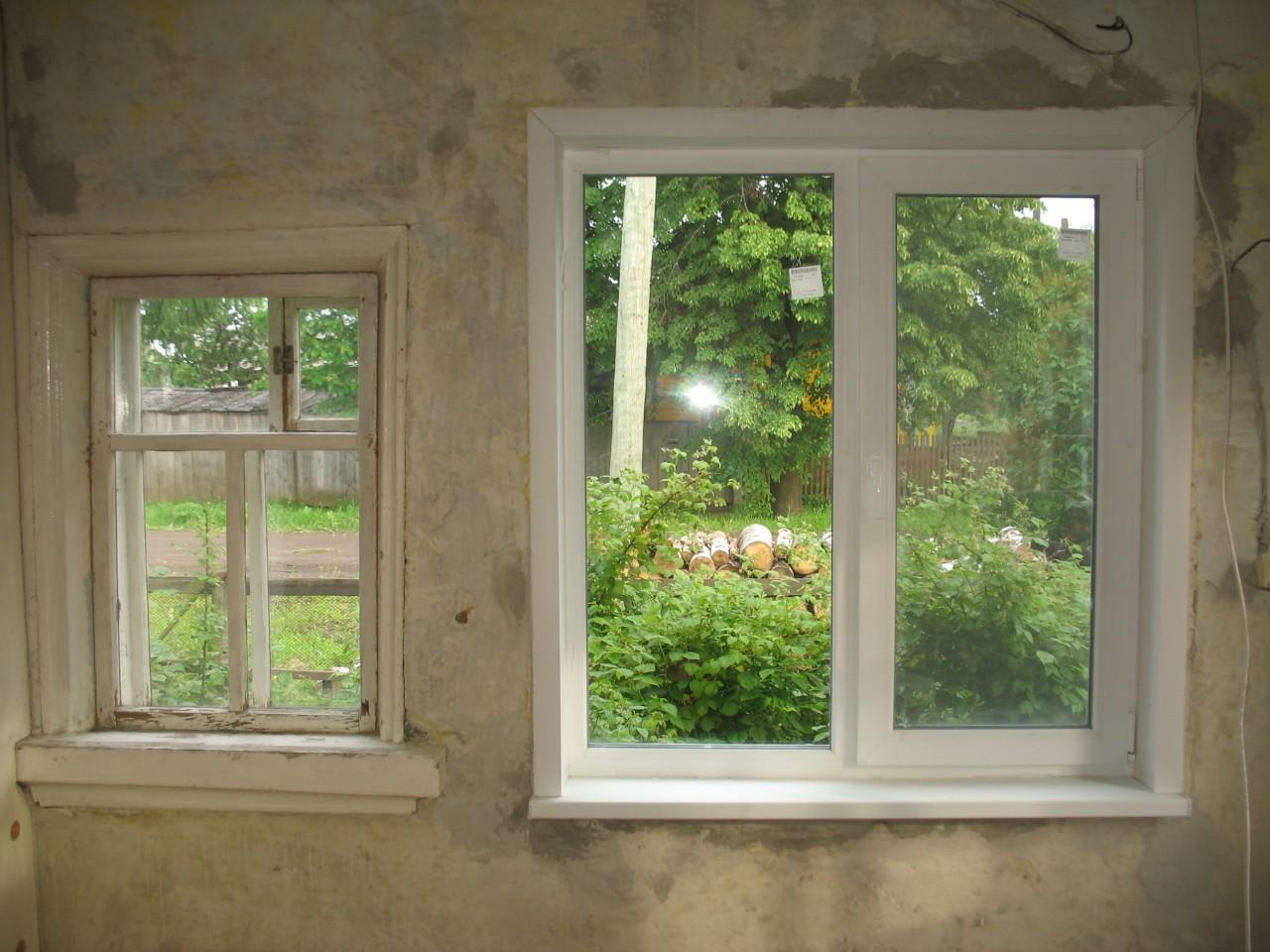 Как с маленьких окон сделать побольше окна 129