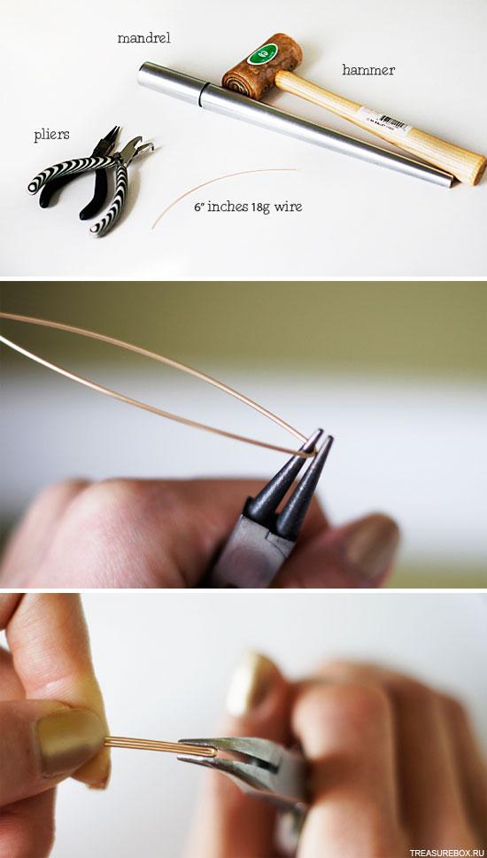 Как делать кольца из проволоки своими руками 91