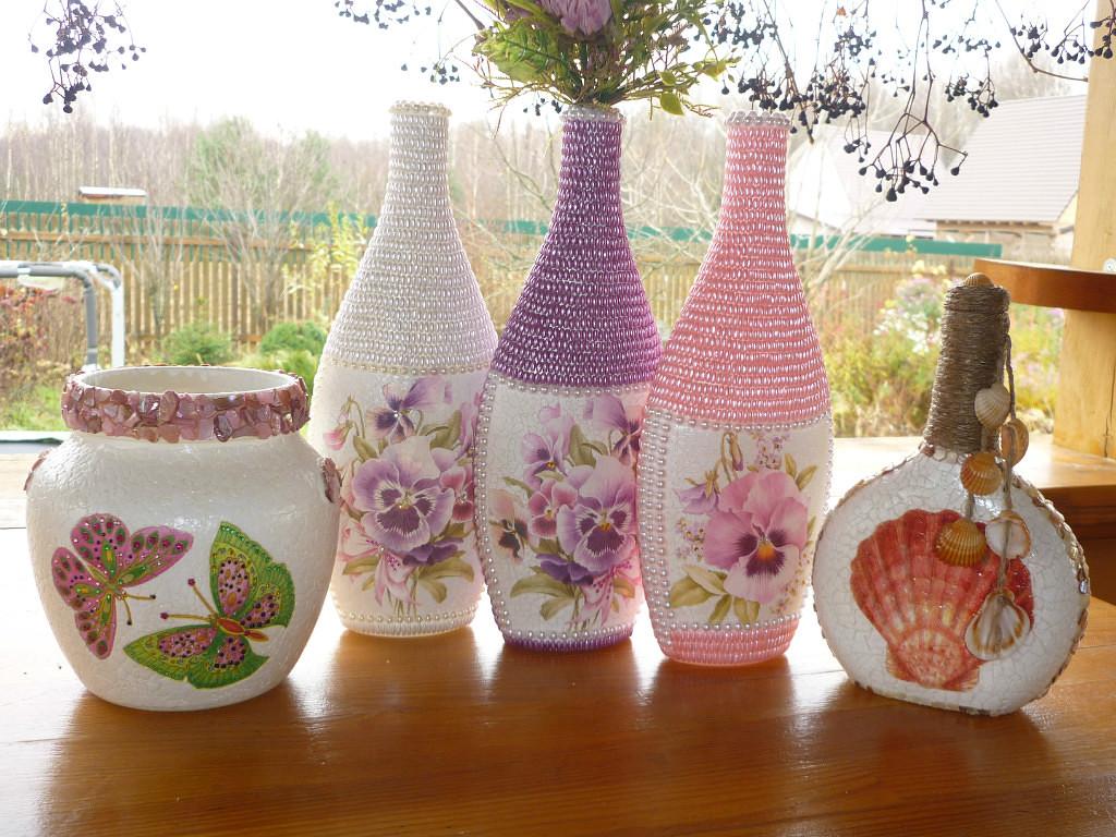 Отделка вазы своими руками фото 933
