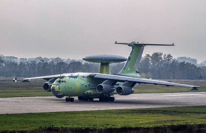 Новейший российский самолёт радиолокационного дозора А-100 совершил первый полёт
