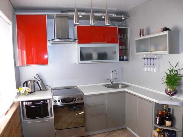Дизайн кухни маленького размера фото угловые