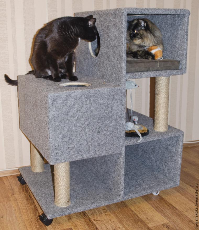 Как кошке сделать кошке домик своими руками 57