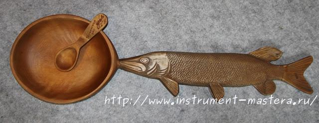 Сувенирная ложка в подарок рыбаку