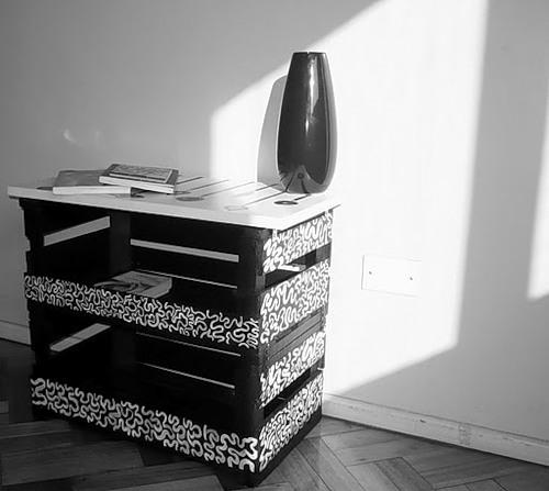 Декупаж мебели в стиле ретро