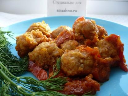 Постные фрикадельки в томатном соусе